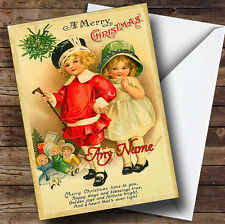 Children & Toys Vintage Traditional Personalised Christmas Card