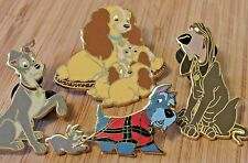 DISNEY LADY AND THE TRAMP PIN SET BOOSTER COLLECTION SET 4 PINS EC