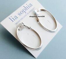 """NEW Lia Sophia """"Inside Out/Alternate"""" Silver Tone Pierced Earrings"""