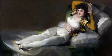 The Clothed Maja by Frederic by Francisco de Goya Fine Art Giclee Canvas Print