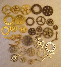 40  STEAMPUNK  COGS AND GEARS MADE FROM METAL MIXED SIZES FROM 25mm