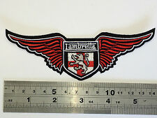 Lambretta Wings RED Patch - Embroidered - Iron or Sew On