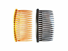 6 pcs Mix Black and Brown Hair combs length 3.34 inches 16 teeth