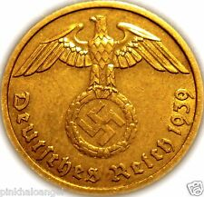 Germany - German 3rd Reich 1939D 2 Reichspfennig Coin - World War 2 Coin