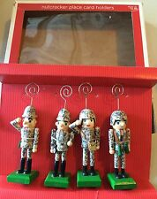 Set of 4 Nutcrackers Military Army Soldiers Place Card Holders 2011 Holiday ��
