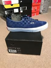 VANS SYNDICATE AUTHENTIC 69 PRO S 9.5 NAVY WHITE CHECKERED FEAR OF GOD SUPR