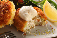 """☆Crispy Coating ~ Incredible!☆Crab Patties/Cakes With Rémoulade """"RECIPE""""!☆"""