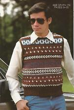 Crochet Pattern ~ MENS PULLOVER SWEATER VEST ~ Instructions