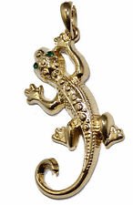 Lizard Gecko Salamander Pendant 18k Gold Plates Necklace withh 22 inch Chain