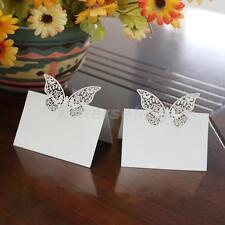 50x Butterfly Wedding Birthday Meeting Meal Table Place Setting Name Cards