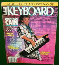 1986 Program Ensoniq Mirage Roland MC-500 Review Jonathan Cain Keyboard Magazine