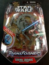 Star Wars Transformers General Grievous Wheel Bike! MOC NIB! Hasbro 2005! HOT!