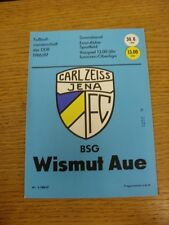 30/08/1986 Carl Zeiss Jena v Wismut Aue  . Thanks for viewing our item, if you a