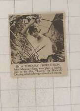 1920 Miss Marjorie Hoare In A Torquay Production Unrest Warwick Deeping