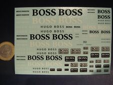 "DECALS 1/43 - 1/32 - 1/24 - 1/18 LOGOS "" HUGO BOSS "" - T312"