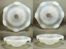 EZAN 2 beaux verres de lustre ou de lampe Art Déco en verre opalescent