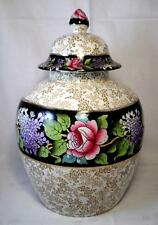 ART DECO China GRIMWADES Large Urn ROYAL WINTON Vintage CHINTZ Rose Lilac FIBRE