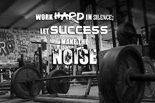 GYM MOTIVATION POSTER PRINT 5 WORKOUT FITNESS WEIGHTS DEADLIFT QUOTE SUCCESS