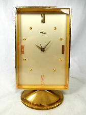 Bella IMHOF Stupendo OROLOGIO DA TAVOLO SVEGLIA ALLARME table clock SWISS MADE 8 days working 592 Tg.