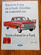 1967 Ford Pickup Truck Ad Rugged Workhorse at the Root Beer Stand