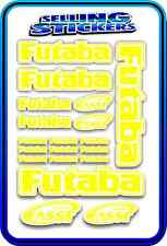 FUTABA SERVO RADIO RX TX 2.4G FLIGHT REMOTE CONTROL STICKERS FASST YELLOW WHITE