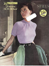 VINTAGE 1950'S KNITTING PATTERN SHORT SLEEVED JUMPER