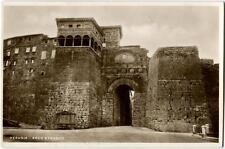 1937 Perugia - Vista dell'arco etrusco esterno, T. Arrivi e Partenze - FP B/N VG