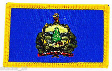 Ecusson Brodé PATCH drapeau VERMONT AMERICAIN USA ETATS UNIS FLAG EMBROIDERED