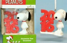MIB 2016 HALLMARK 50TH PEANUTS SNOOPY CHRISTMAS ORNAMENT