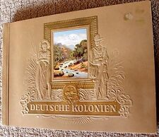 GERMAN COLONIES TOBACCO CARDS ALBUM, COMPLETE, 270 CARDS, YEAR 1936
