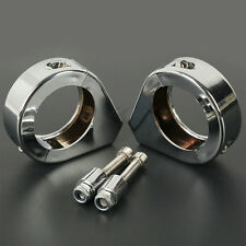 Universal 39mm Fork Relocation Clamps Turn Signal Mount Bracket For Harley Honda