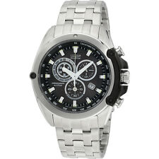 Citizen Eco-Drive Analog Black Dial Stainless Steel Men's Watch AT078755F