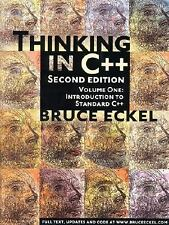 Thinking in C++ Vol. 1 : Introduction to Standard C++ by Bruce Eckel (2000,...