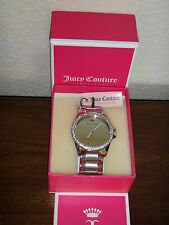 Juicy Couture Womens Laguna Silver-Tone Stainless Steel Glitz Watch 36mm 1901288