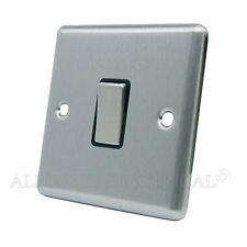 Brushed Satin Chrome Classical 1 Gang Switch - 10 Amp Single 2 Way Light Switch