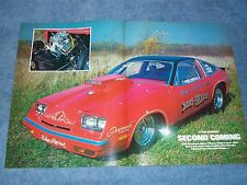 "1975 Chevy Monza Vintage Pro Stock Drag Car Article ""Second Coming"""