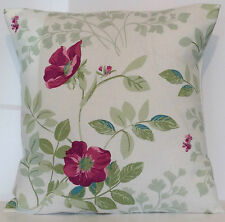 "Laura Ashley Ella Berry Floral Pink Green 16"" Cushion Cover"