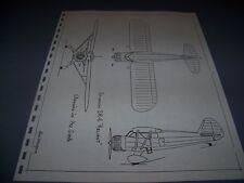 VINTAGE..1935 STINSON SR-6 RELIANT....3-VIEWS/DETAILS... (540C)