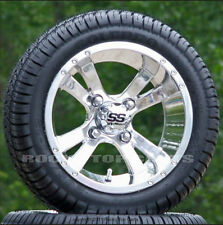 """Golf Cart 12"""" Twister Wheels with 205-30-12 Low Profile Tire -Set of 4"""