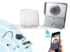 VIDEOCITOFONO WIFI WIRELESS CHIAMATA SMARTPHONE SENSORE MOVIMENTO IPHONE ANDROID