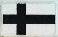 FINLAND Flag Black & White Velcro Patch Military Police Tactical Shoulder Emblem