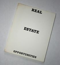 Ed (Edward) Ruscha, 'REAL ESTATE OPPORTUNITIES' – First and Only Edition