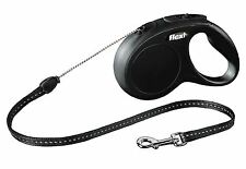 Flexi Vario Classic Black Retractable Tape Lead For Medium-Large dogs 5m