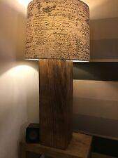 Rigenerate stile spessi in pino massello fatta a mano tavolo / Lampada