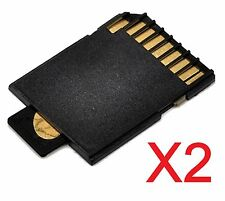 New 2x Micro SD TF Card To SD Memory Card Adapter Reader Camera #134