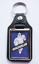 MICHELIN MAN FAUX LEATHER KEY RING.MICHELIN TYRES,CLASSIC RACING TYRES.