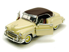 Motor Max 1/18 Scale 1950 Chevy Bel Air Hard Top Yellow Diecast Car Model 73111