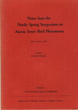 Notes from the Nordic Spring Symposium on Atomic Inner Shell phenomena i 1978