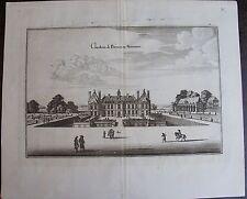 VUE DU CHATEAU DE BREUES EN NIVERNOIS. MERIAN,GRAVURE ORIGINALE DE 1655