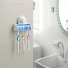 Set 5 Home Bathroom Toothbrush SpinBrush Suction Holder Stand Rack Plastic BY